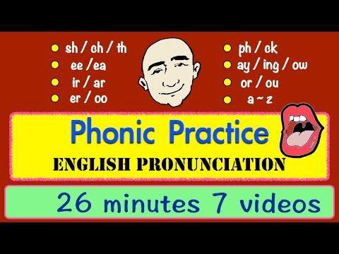 Phonic Sounds | Pronunciation | Long Video | English Speaking Practice | ESL | EFL - YouTube