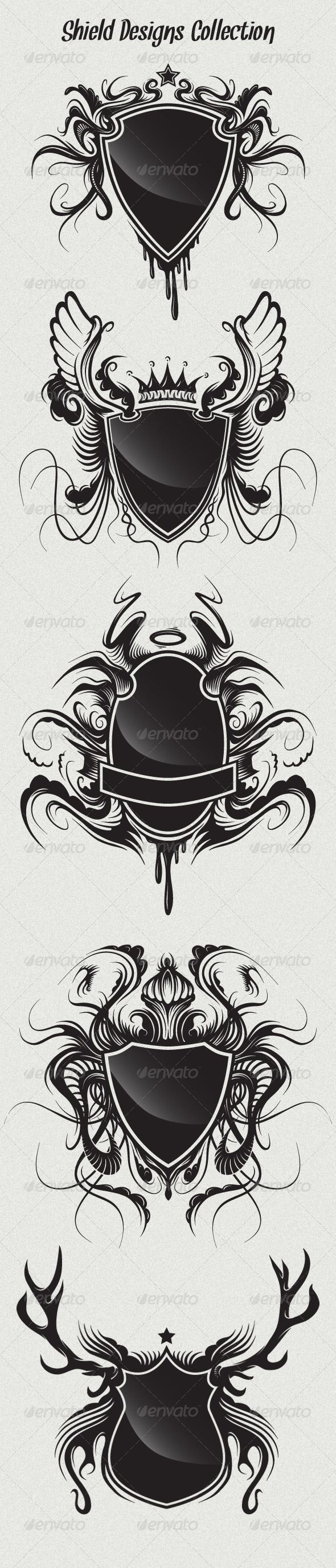 Searching for some dark vector shields for your designs?! ---> Shield Designs Collection