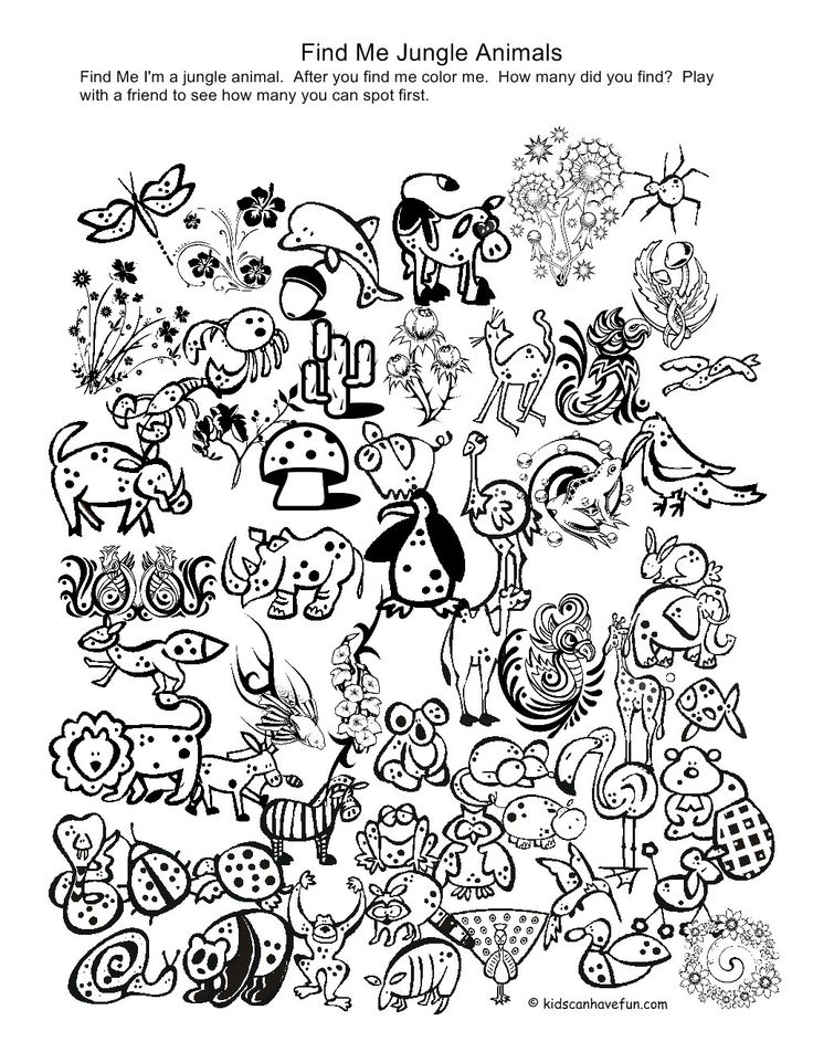 Printable Coloring Pages Of Animals