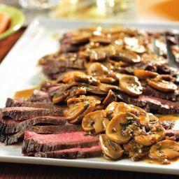 - London Broil w/ Mushroom Gravy - PRESSURE COOKER