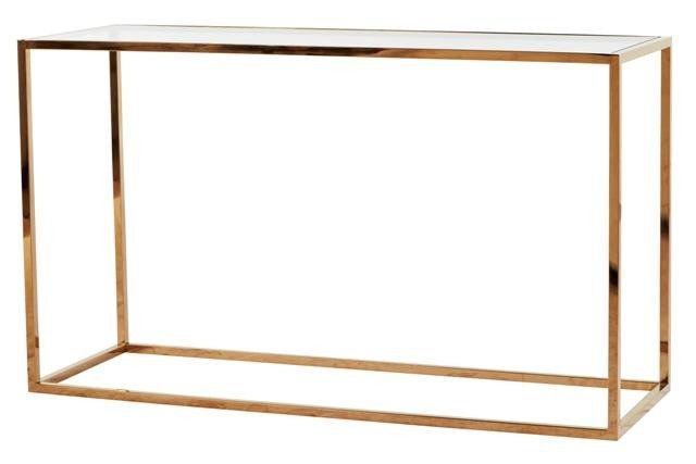ELLE CUBE CONSOLE - BRASS STAINLESS STEEL