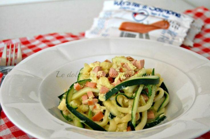 spaghetti di zucchine in finta carbonara