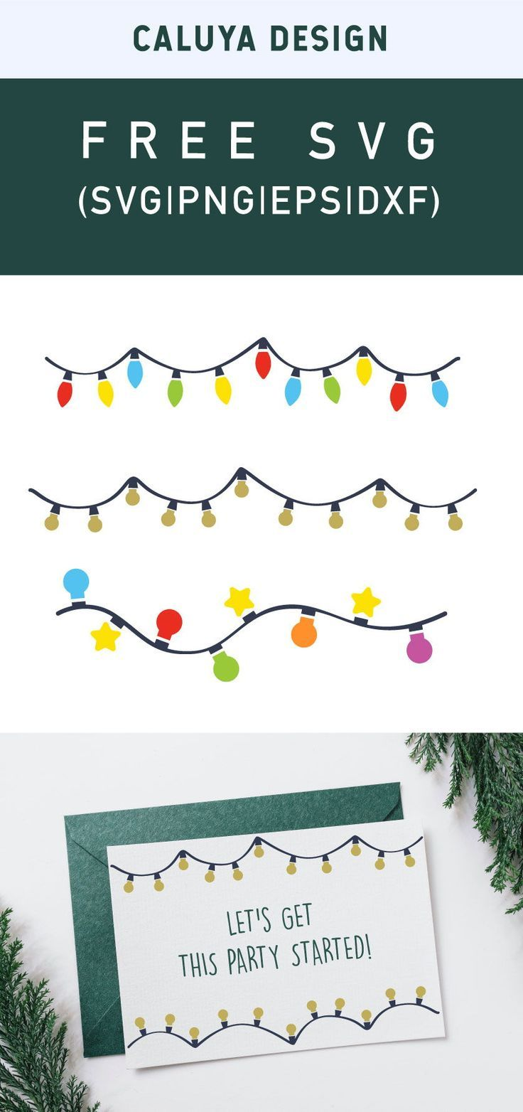 Free Christmas Lights Svg Png Eps Dxf By Caluya Design Christmas Svg Files Free Printable Clip Art Free Christmas