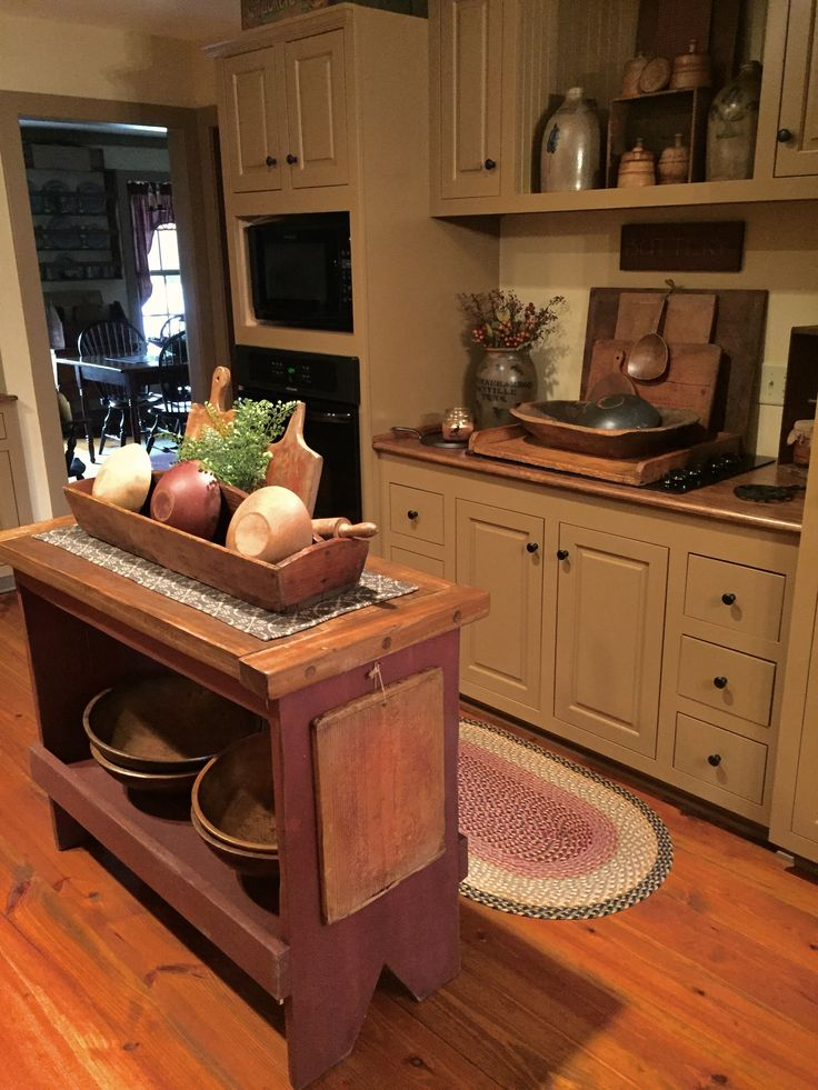 672 best Primitive/Colonial Kitchens images on Pinterest ...