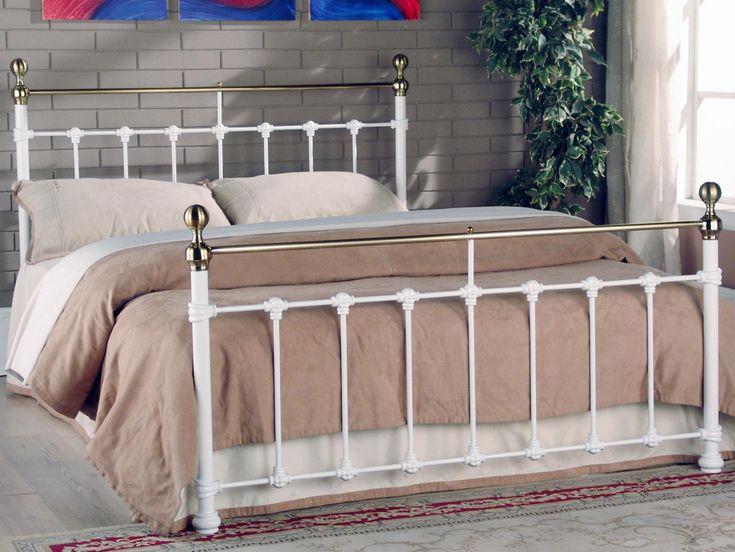 limelight tarvos king size white metal bed frame - White Metal Bed Frame
