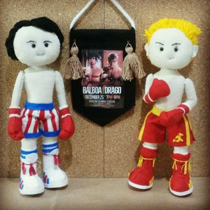 Rocky 5  - Bonecos personalizados Rocky Balboa e Ivan Drago #rockybalboa #balboaxdrago #rockyv #ivandrago #boxe #lutador #filmes