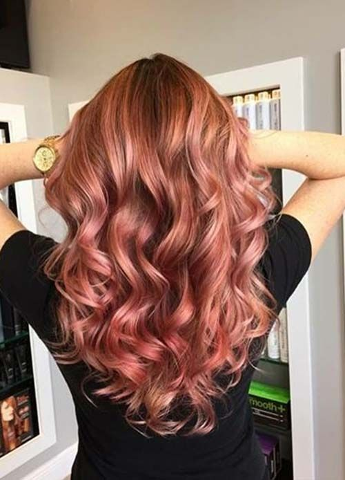 65 Rose Gold Hair Color Ideas for 2017 - Rose Gold Hair Tips & Maintenance   Fashionisers