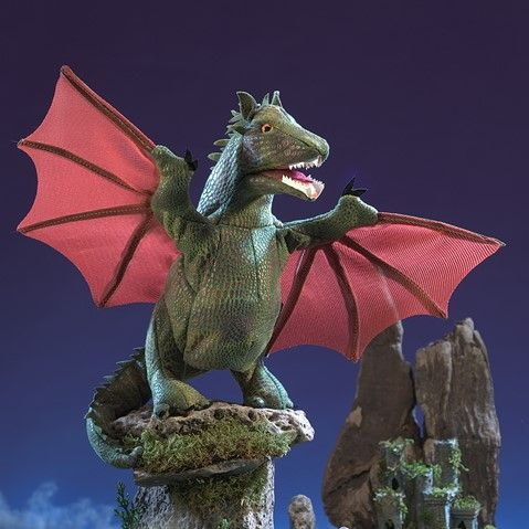 Winged Dragon Hand Puppet  |  Folkmanis