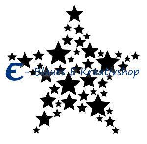 """Plotterdatei """"Sternenmosaik"""", enthalten sind svg, dxf und png. Die Datei ist nur für den privaten Gebrauch bestimmt. Alle Rechte liegen bei Claudia Eußert, Blaues E Kreativshop"""
