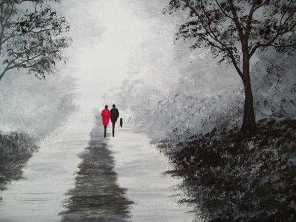 The Misty Lane by Patricia Richards | Artgallery.co.uk
