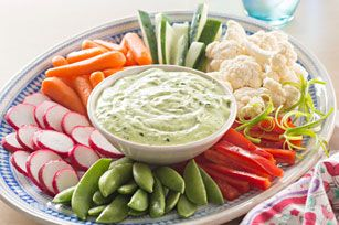 Green Goddess Dip with Spring Vegetables recipe