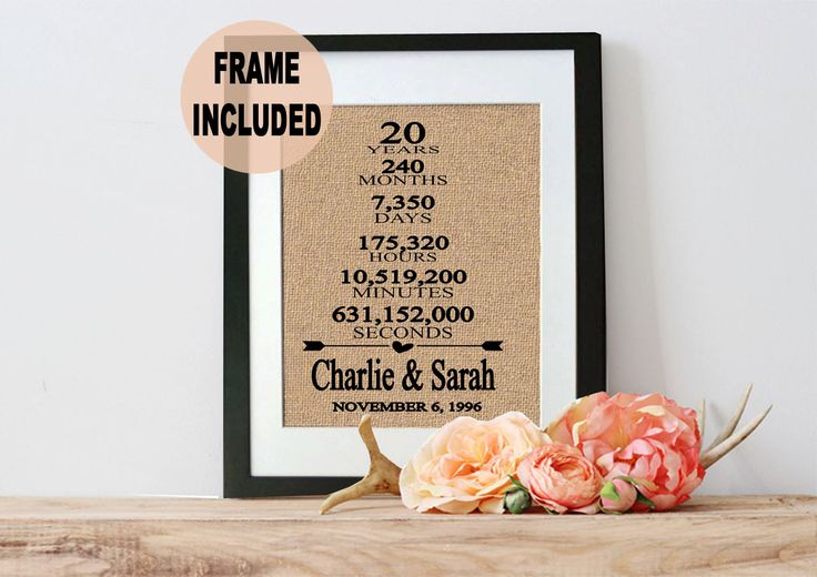 Wedding Gifts By Years: Best 25+ 20 Year Anniversary Gifts Ideas On Pinterest