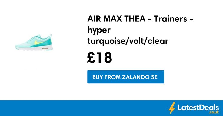 AIR MAX THEA - Trainers - hyper turquoise/volt/clear jade/white Save £41.99, £18 at Zalando SE