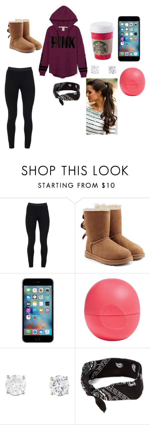 """Going Out Bowling Outfit"" by edec1152 ❤ liked on Polyvore featuring Victoria's Secret, Peace of Cloth, UGG Australia, Eos and claire's"