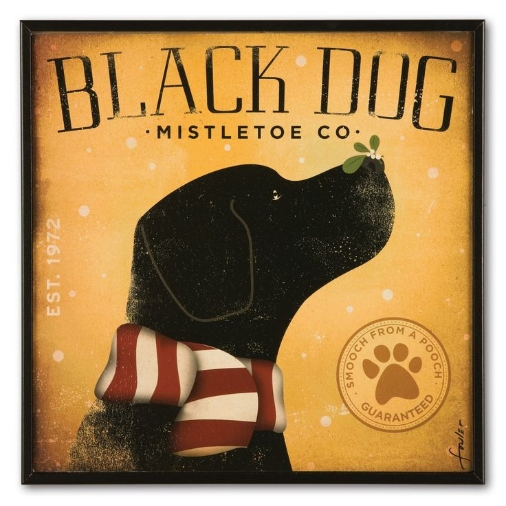 Retro Black Dog Print | Sturbridge Yankee Workshop