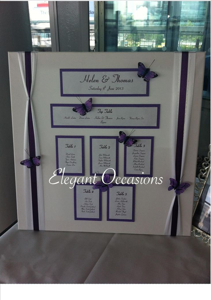 Purple & White Butterflies on canvas frame