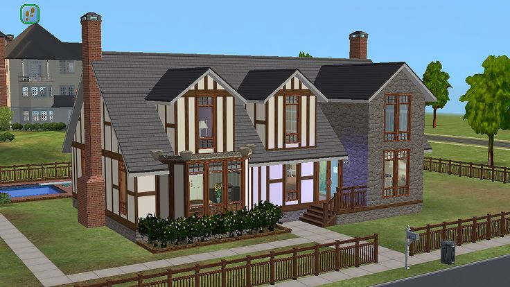215 Sim Lane - Pleasant family.  I forgot a before picture (it seems I always do), but here's a link to the Sims Wiki incase you suck at google.  Changes: Downstairs master bath got a separate shower-room, instead of the tub, and a laundry room was...
