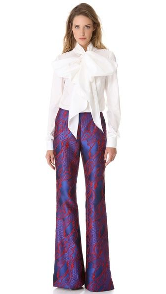 Wes Gordon Filigree Brocade Flare Pants $1,350.00