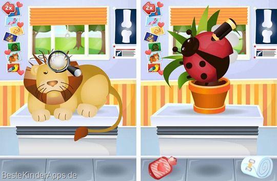 Arztpraxis Tiere Spiel Happy Touch Kinder Apps (5)