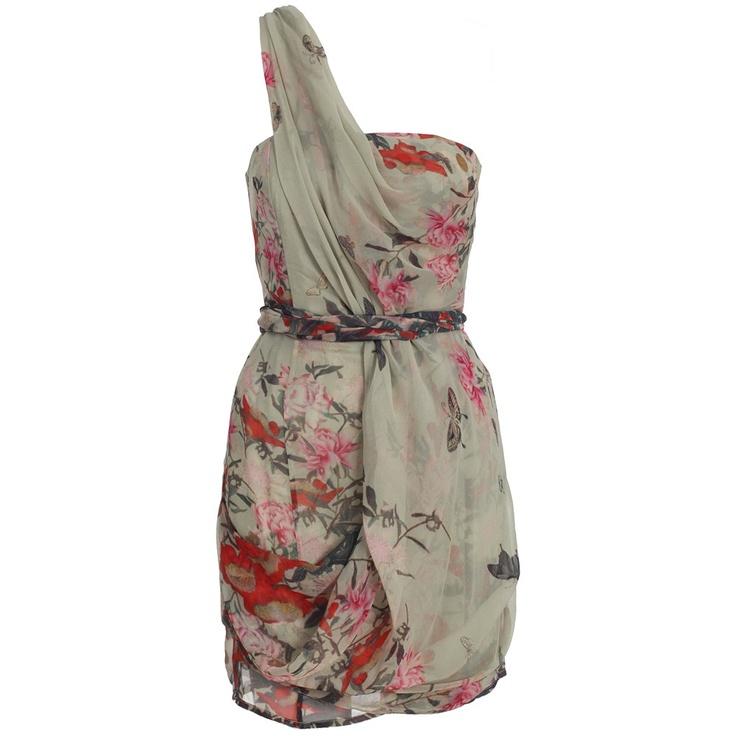 floral one-shoulder dress. #zimmermann