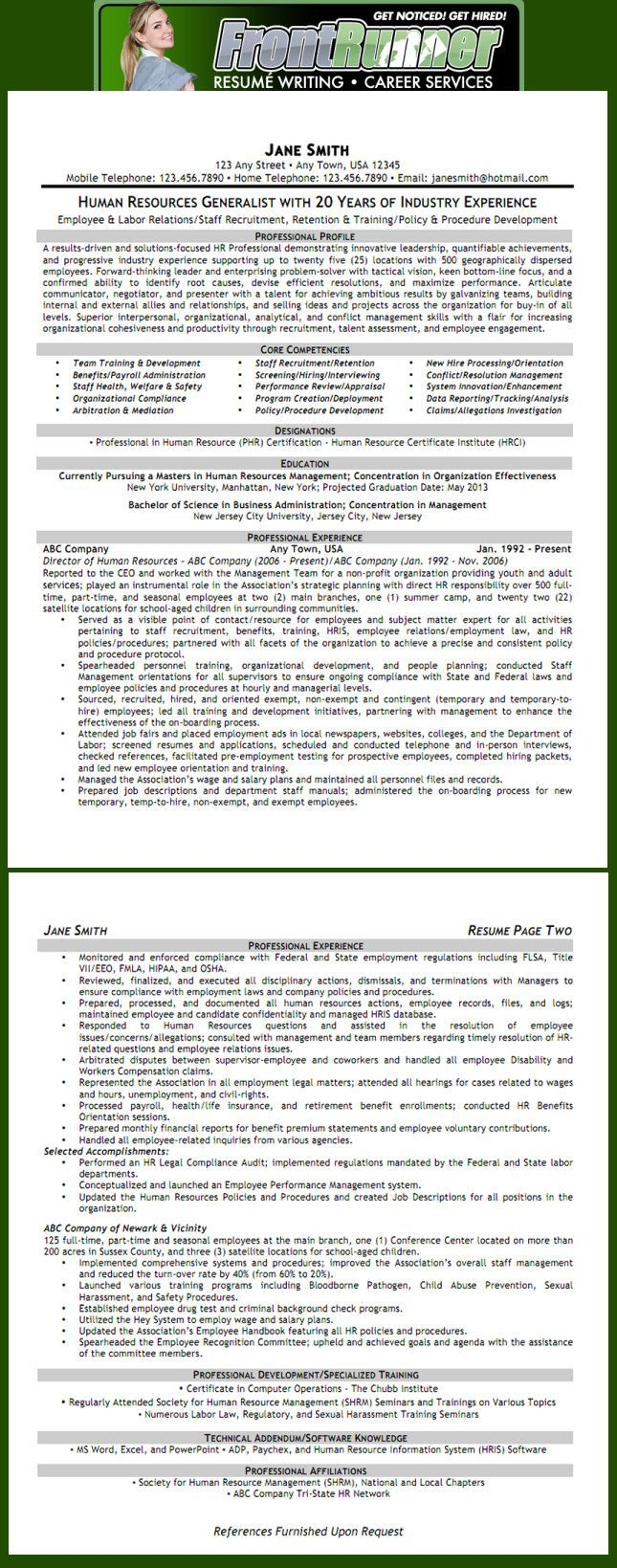 Resume - Human Resources Generalist