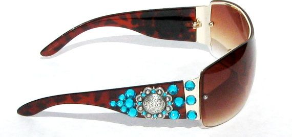 Western Sunglasses, Cowgirl Sunglasses, Brown Sunglasses, Rhinestone Cowgirl Bling Sunglasses, Gift Ideas For Her, Bling Bling Accessories