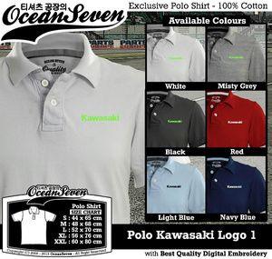 Baju Kaos Polo Kawasaki Logo 1