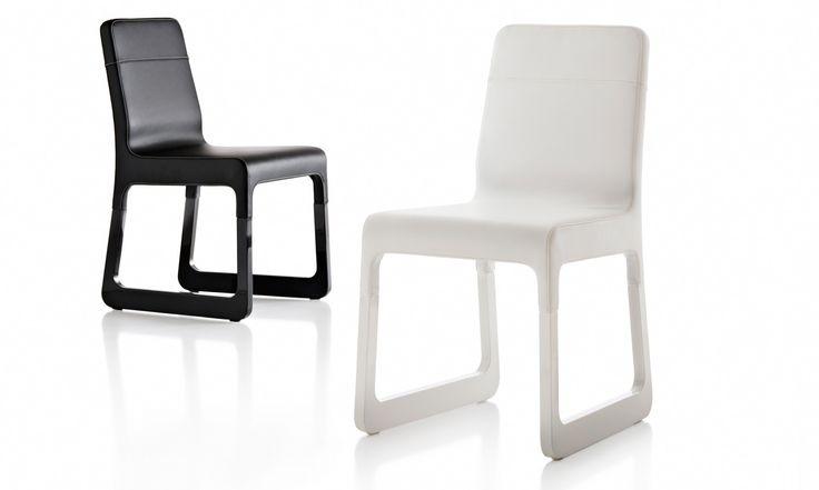 La Sella Chair Black White leather