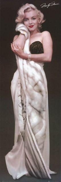 Marilyn Monroe Sensuous Sable Portrait 21x60 DoorPoster