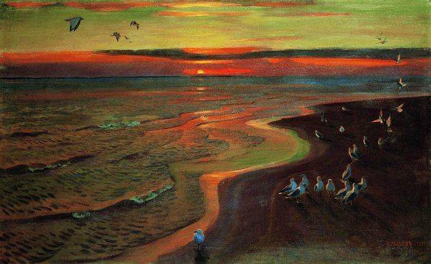 Аркадий Александрович Рылов Чайки. Закат 1922