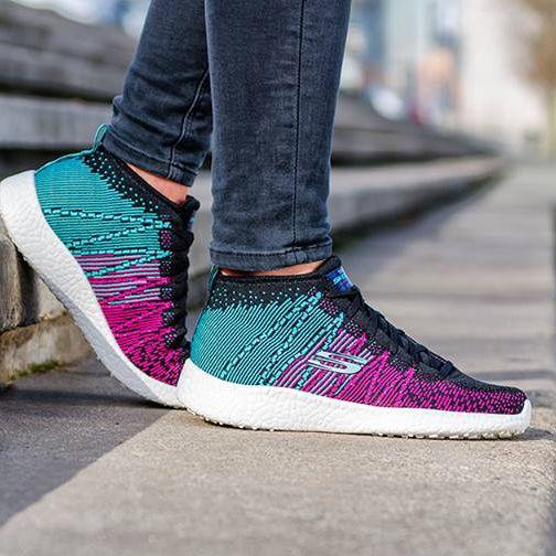 The kind of color that captivates! Shop Skechers Burst: