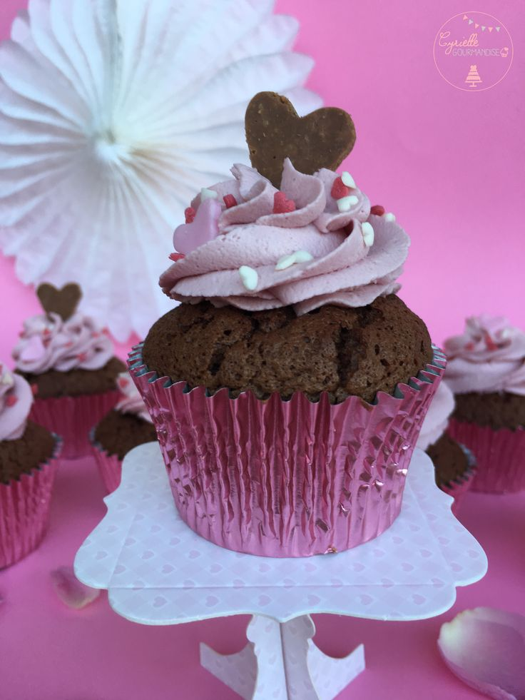 Love Cupcakes Chocolat, crémeux Mascarpone Framboise ♥ | Cyrielle Gourmandise