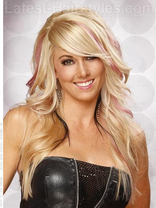 pretty.: Hair Colors, Blonde, Layered Hairstyles, Long Hairstyles, Pink Highlights, Hair Cut, Long Layered, Bangs, Hair Style