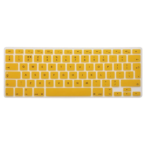 Brand New Wholesale Price Colorful UK/EU Silicone Soft Keyboard Cover Skin For APPLE For Mac 13 15 17 For MacBook PRO Only