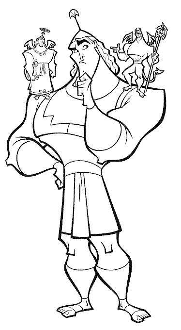 kronk coloring pages - photo#5