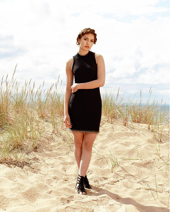 Multifunctional black dress mini/maxi many by MagdalenaMol on Etsy