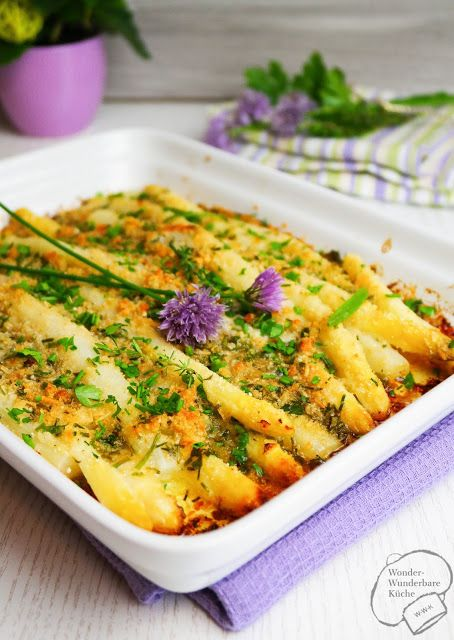 Wonder Wunderbare - Küche: Überbackener Kräuter-Parmesan-Spargel