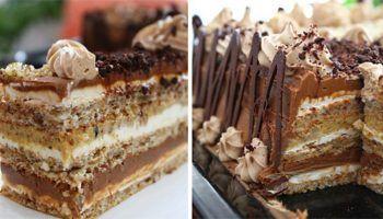 O reteta speciala de tort cu doua creme