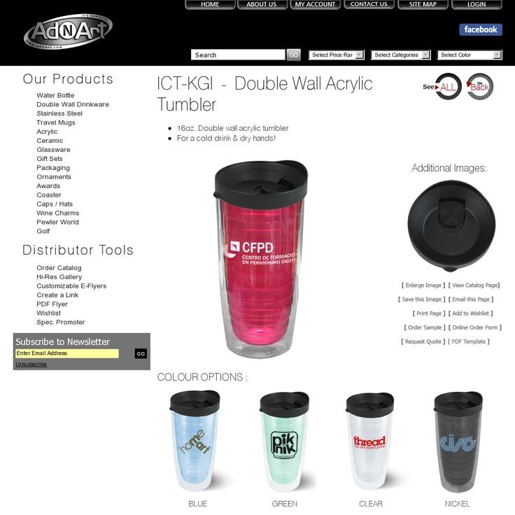 AdNArt-Double Wall Acrylic Tumbler     http://www.creatchmanpromo.ca/