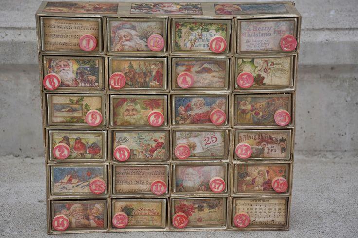 Vintage Advent Calendar journeyawakensthesoul.blogspot.com