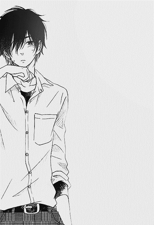 Monochrome male dark