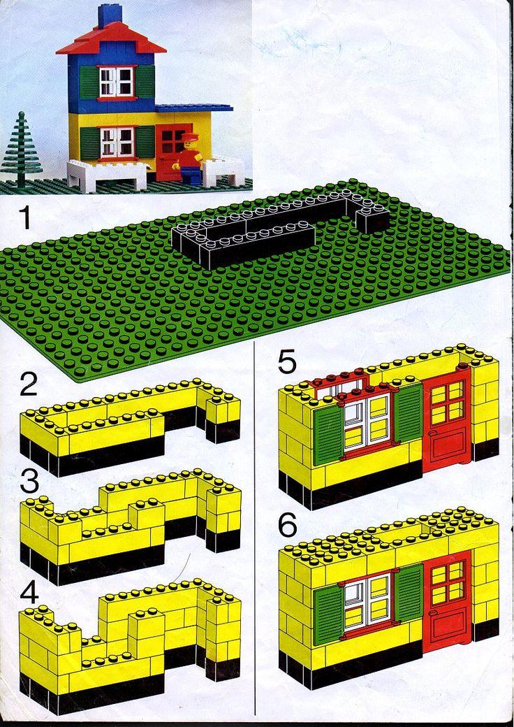 Схема по картинкам лего домики