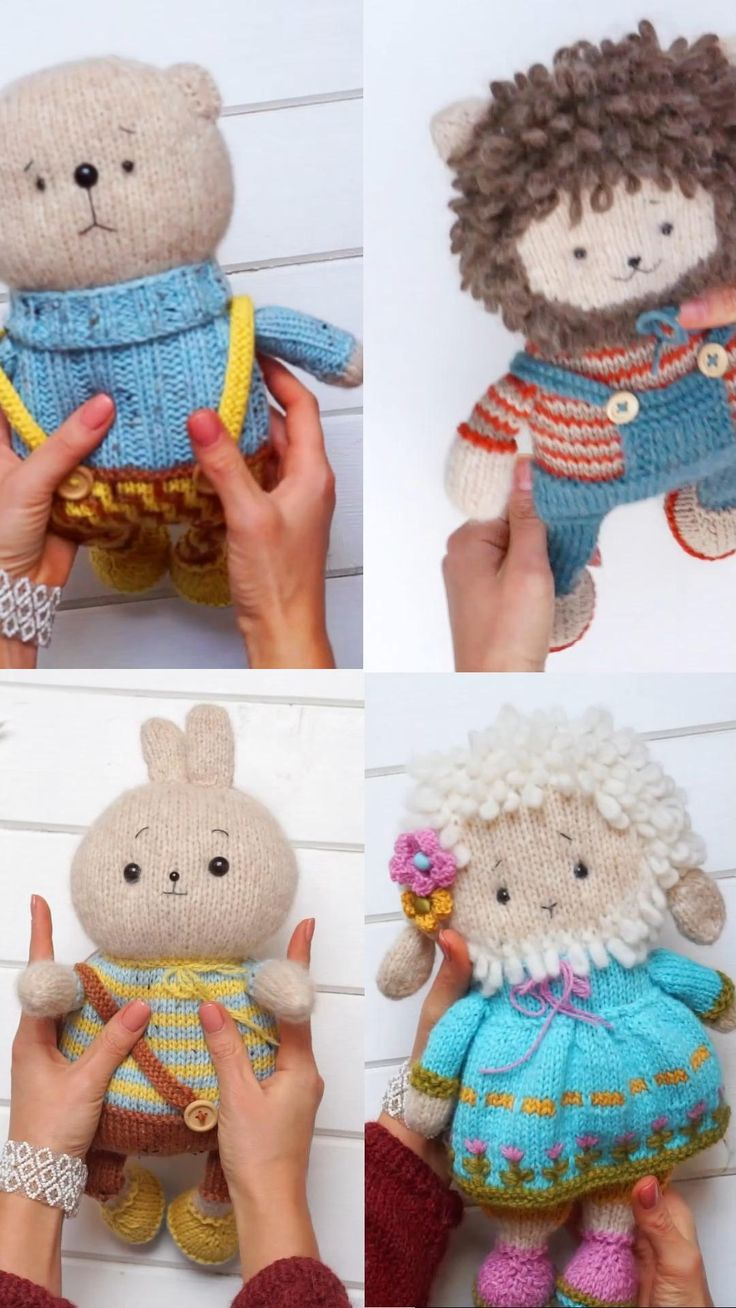 Stuffed Animal Baby Shower Easy Follow Easter Knitting Pattern Cozy