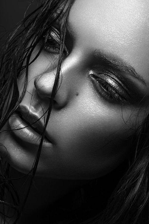 Gorgeous monochrome face