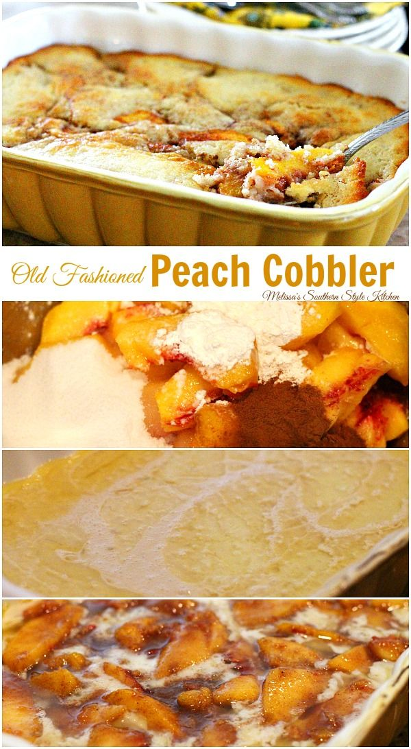 how to cook peaches for peach cobbler