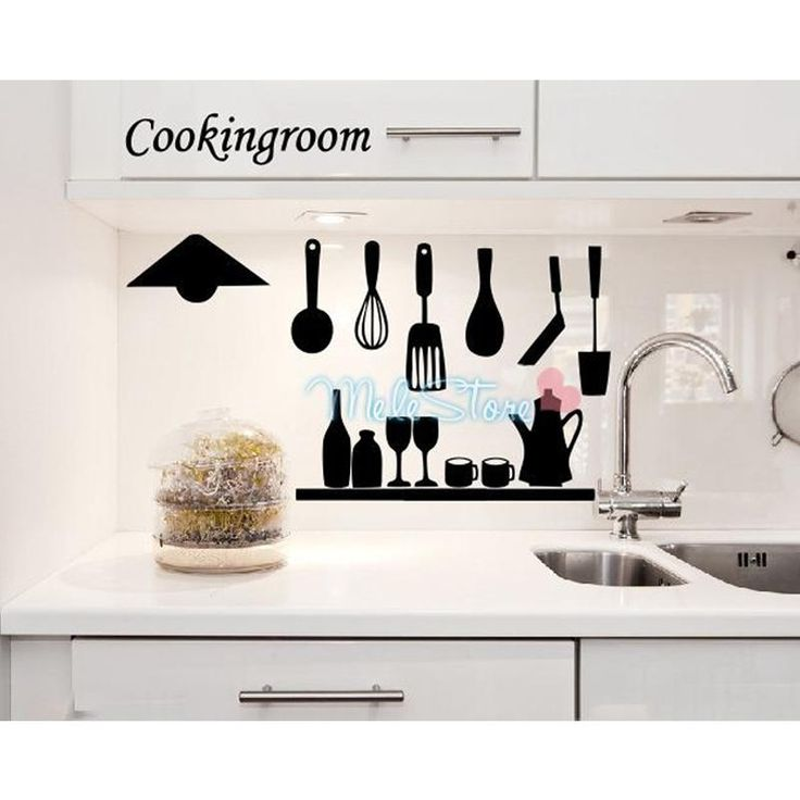 Pleasant Life Kitchen Restaurant Table Background Wall Stickers Kitchen  Wallpaper Home Decor Fashion DIY Waterproof Removable