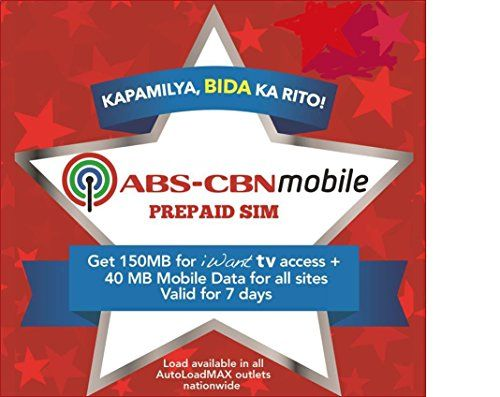 #ABS-CBN #Mobile Prepaid SIM Pack (in Normal or Micro SIM): The ABS-CBN Mobile prepaid service pack includes a normal/micro SIM card with Philippine Peso 350 load...