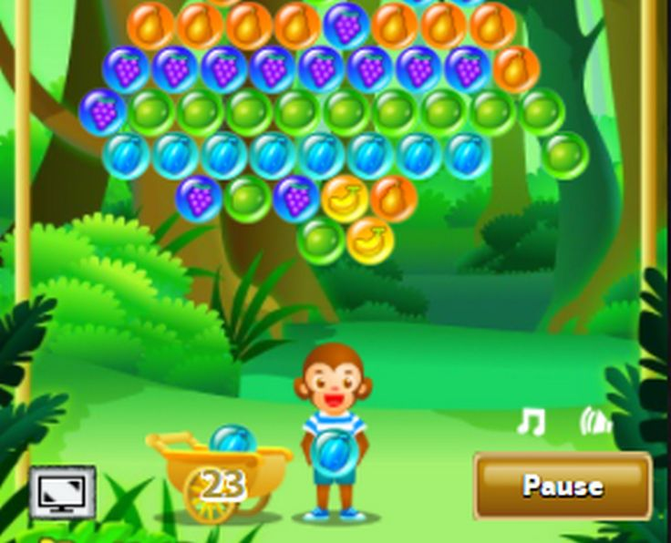 Shoot bubbles up with your monkey and create groups of 3 or more of the same bubbles to remove them.
