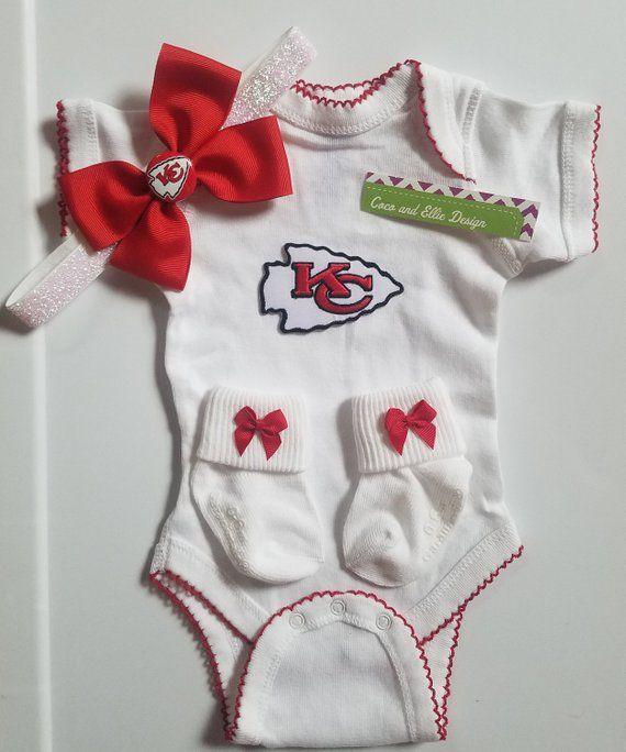 quality design 54395 c30a8 Kansas City Chiefs baby girl outfit/chiefs girl/kansas city ...