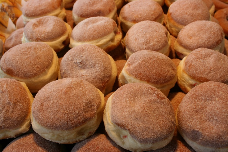 """""""Berliner"""" - typical German donuts at the International Baking Academy"""
